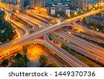 overpass rails in the city | Shutterstock . vector #1449370736
