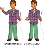 retro classic tv game show host ... | Shutterstock .eps vector #144938680