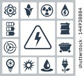vector isolated energy icons set | Shutterstock .eps vector #144938884