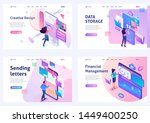 set of isometric concepts.... | Shutterstock .eps vector #1449400250