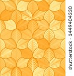 autumn stylized leaves with... | Shutterstock .eps vector #1449404330