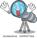 tongue out toy telescope in a... | Shutterstock .eps vector #1449427166