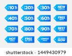 vector blue discount tags  sale ...
