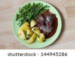 beef steak with cranberries