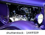 Purple Classic Car With Chrome...