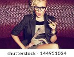 gorgeous young superstar with... | Shutterstock . vector #144951034