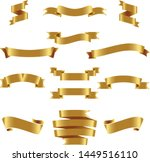 gold ribbon set inisolated... | Shutterstock .eps vector #1449516110
