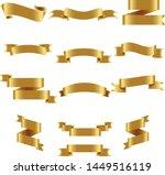 gold ribbon set inisolated... | Shutterstock .eps vector #1449516119