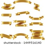 gold ribbon set inisolated... | Shutterstock .eps vector #1449516140