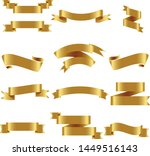 gold ribbon set inisolated... | Shutterstock .eps vector #1449516143
