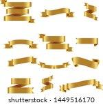 gold ribbon set inisolated... | Shutterstock .eps vector #1449516170