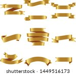 gold ribbon set inisolated... | Shutterstock .eps vector #1449516173