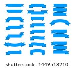 flat ribbons banners flat... | Shutterstock . vector #1449518210