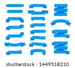 flat ribbons banners flat... | Shutterstock . vector #1449518210