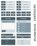 vector set of simple user... | Shutterstock .eps vector #144954190