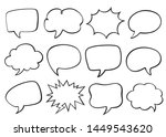 set of speech bubbles. empty...   Shutterstock .eps vector #1449543620