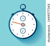stopwatch icon in flat style ...   Shutterstock .eps vector #1449577343