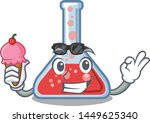 with ice cream erlenmeyer flask ...