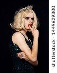 drag queen in dress with makeup ... | Shutterstock . vector #1449629300