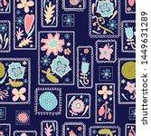 cute decorative flowers in...   Shutterstock .eps vector #1449631289