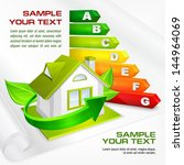 energy efficiency rating with... | Shutterstock .eps vector #144964069