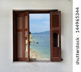 View Of Beach Landscape Throug...