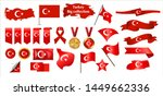 big collection of vector flags... | Shutterstock .eps vector #1449662336