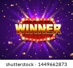 winner shiny banner with... | Shutterstock .eps vector #1449662873
