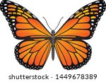 Stock vector danaus plexippus butterfly vector image for web design and print 1449678389