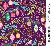 christmas seamless pattern for...   Shutterstock .eps vector #1449683846