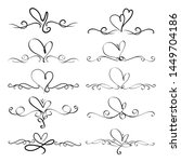 set of heart decorative... | Shutterstock .eps vector #1449704186