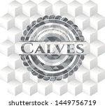 calves grey emblem with cube... | Shutterstock .eps vector #1449756719