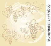 decorative grapes   vine vector ... | Shutterstock .eps vector #144975700
