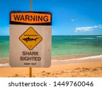 Close Up Of A Warning Sign For...