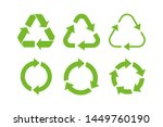 recycle icon symbol vector.... | Shutterstock .eps vector #1449760190