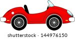 funny red convertible car...