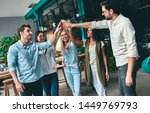 group of young business people... | Shutterstock . vector #1449769793