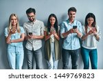 group of young people isolated... | Shutterstock . vector #1449769823