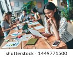 group of young business people... | Shutterstock . vector #1449771500