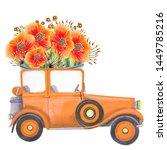 Illustration With Oldtimer Car...