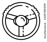 steering wheel icon. outline...