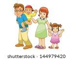 family vector cartoon | Shutterstock .eps vector #144979420