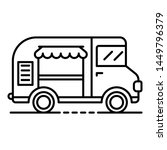 ice cream truck icon. outline... | Shutterstock . vector #1449796379