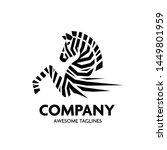 Vector Zebra Head Logo On Whit...