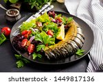 smoked mackerel and fresh salad ... | Shutterstock . vector #1449817136
