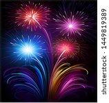 beautyful fireworks fireworks...   Shutterstock . vector #1449819389