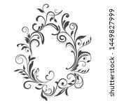 black and white floral vintage...   Shutterstock .eps vector #1449827999