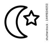 moon icon vector illustration.... | Shutterstock .eps vector #1449834053