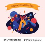 happy friendship day greeting...   Shutterstock .eps vector #1449841130