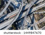 los angeles aerial of the... | Shutterstock . vector #1449847670